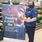 Tesco community champion supports local children and families with fruit and veg donations